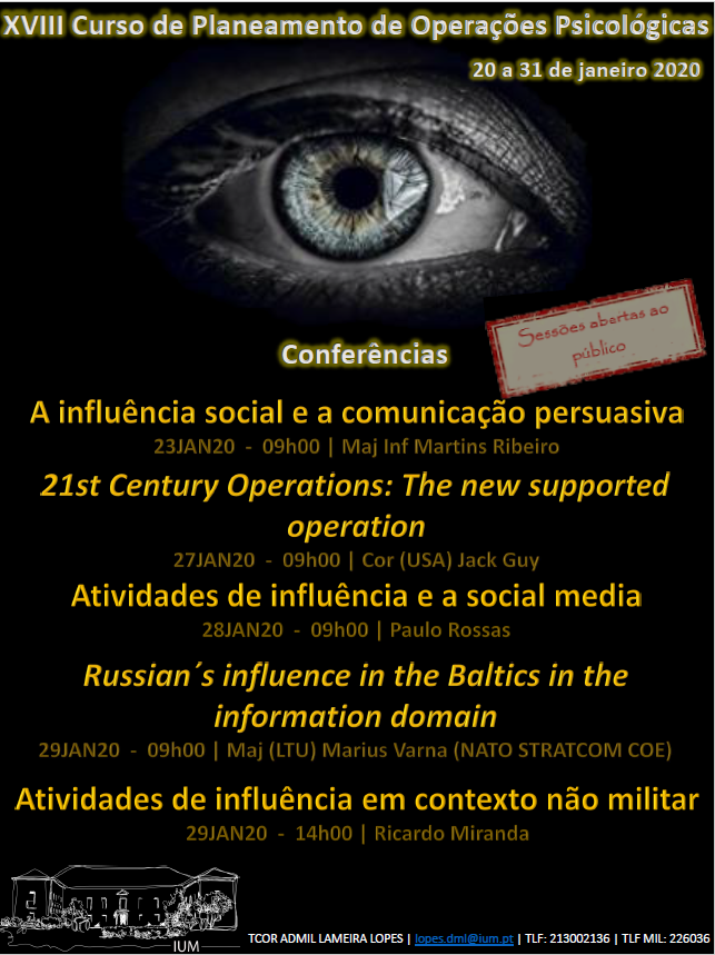 "Conferência ""21st Century Operations: The new supported operation"""